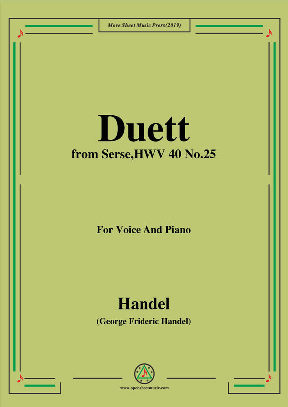 Handel-Duett,from Serse HWV 40 No.25