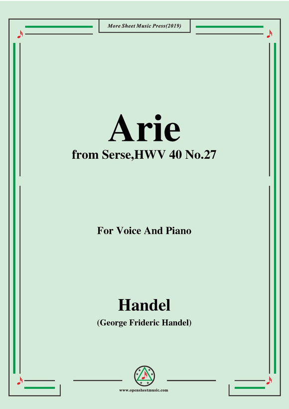 Handel-Arie,from Serse HWV 40 No.27