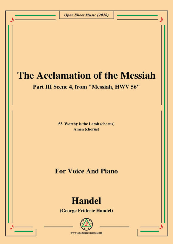 Handel-Messiah,HWV 56,Part III,Scene 4