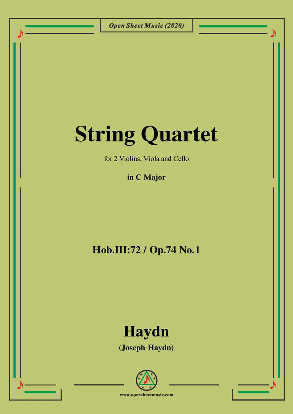 Haydn-String Quartet in C Major,Hob.III:72,Op.74 No.1
