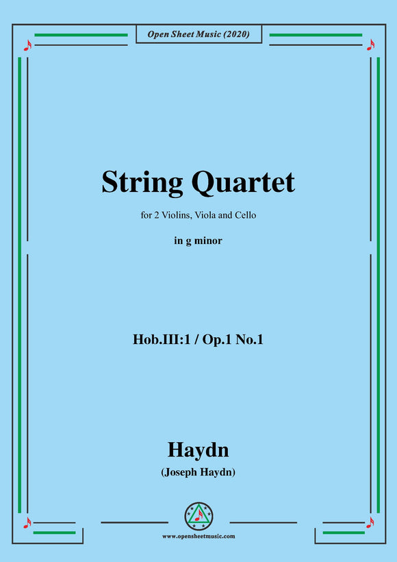 Haydn-String Quartet in g minor,Hob.III:1,Op.1 No.1