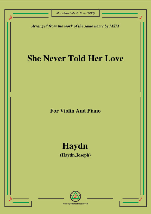 Haydn-She Never Told Her Love