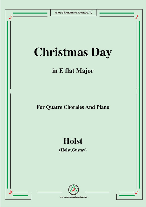 Holst-Christmas Day,for Quatre Chorales