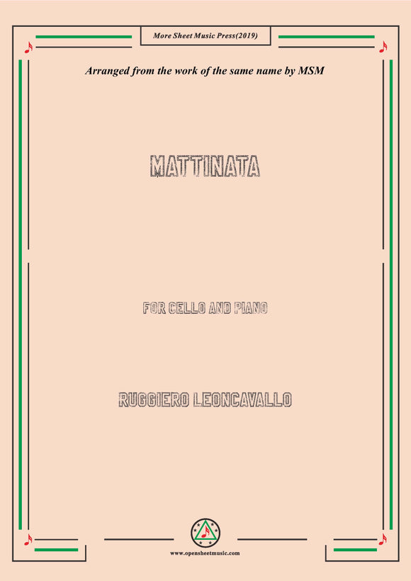 Leoncavallo-Mattinata