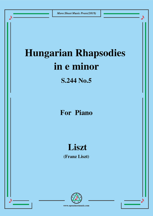 Liszt-Hungarian Rhapsodies,S.244 No.5