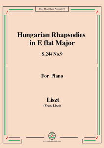 Liszt-Hungarian Rhapsodies,S.244 No.9