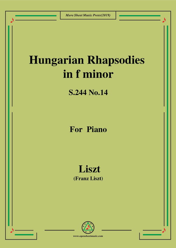 Liszt-Hungarian Rhapsodies,S.244 No.14