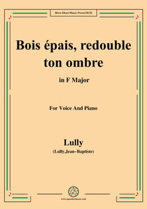 Lully-Bois épais,redouble ton ombre,from 'Amadis'
