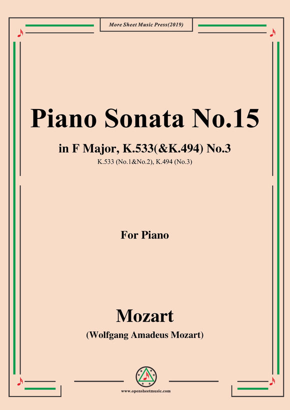 Mozart-Piano Sonata No.15 in F Major,K.533(&K.494),No.3