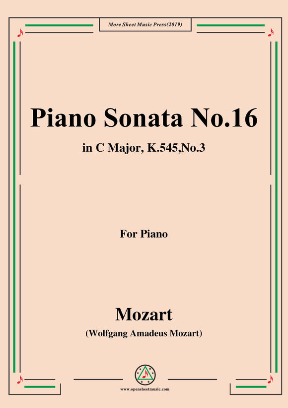 Mozart-Piano Sonata No.16 in C Major,K.545,No.3