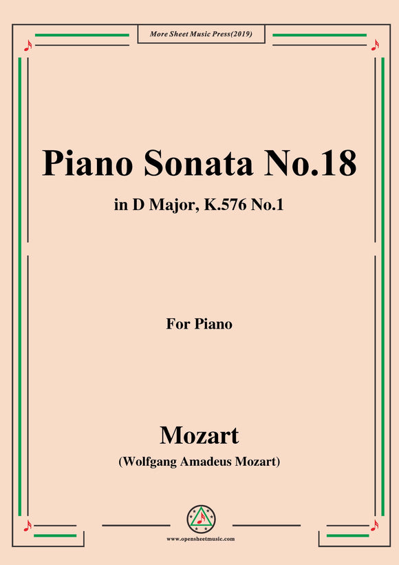 Mozart-Piano Sonata No.18 in D Major,K.576,No.1