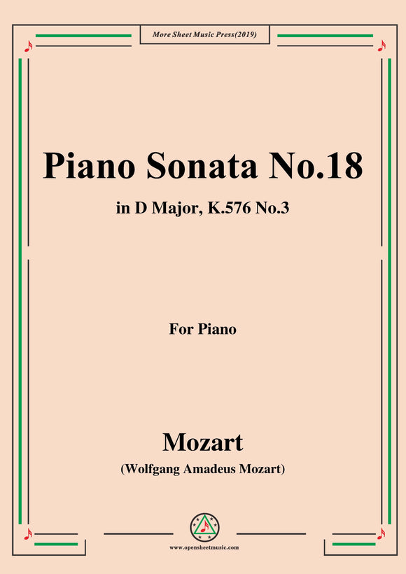 Mozart-Piano Sonata No.18 in D Major,K.576,No.3