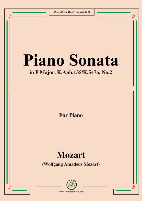 Mozart-Piano Sonata in F Major,K.Anh.135 No.2(transposed from K.545)