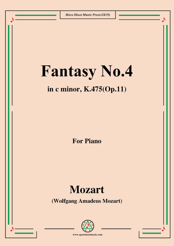 Mozart-Fantasy No.4 in c minor,K.475