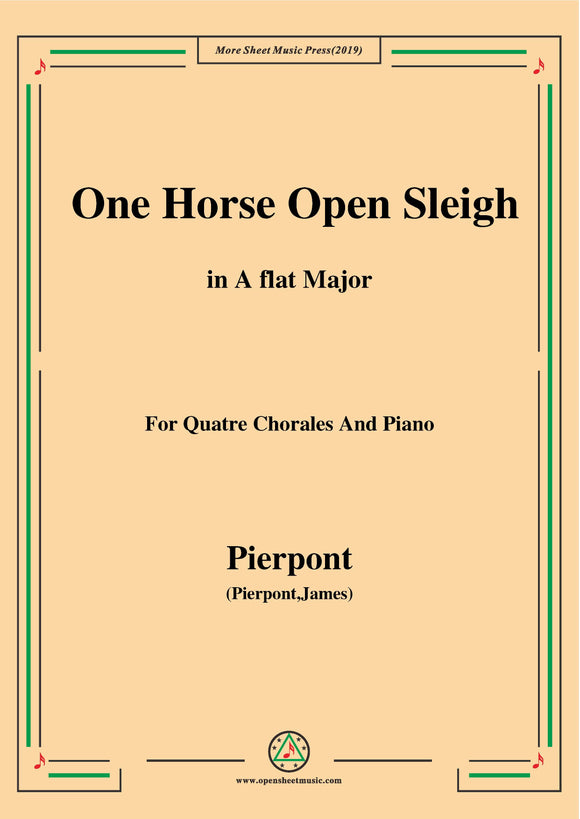 Pierpont-Jingle Bells(The One Horse Open Sleigh),for Quatre Chorales
