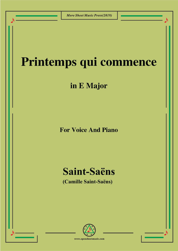 Saint-Saëns-Printemps qui commence,from 'Samson et Dalila'