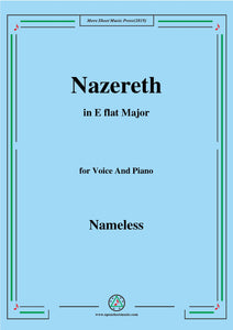 Nameless-Christmas Carol,Nazereth,in E flat Major,for voice and piano
