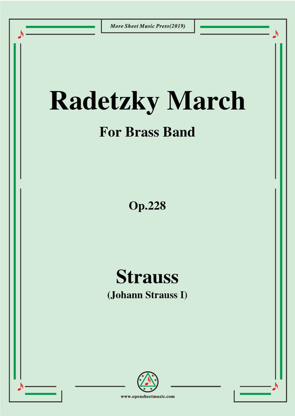 Johann Strauss I-Radetzky March,for Brass Band