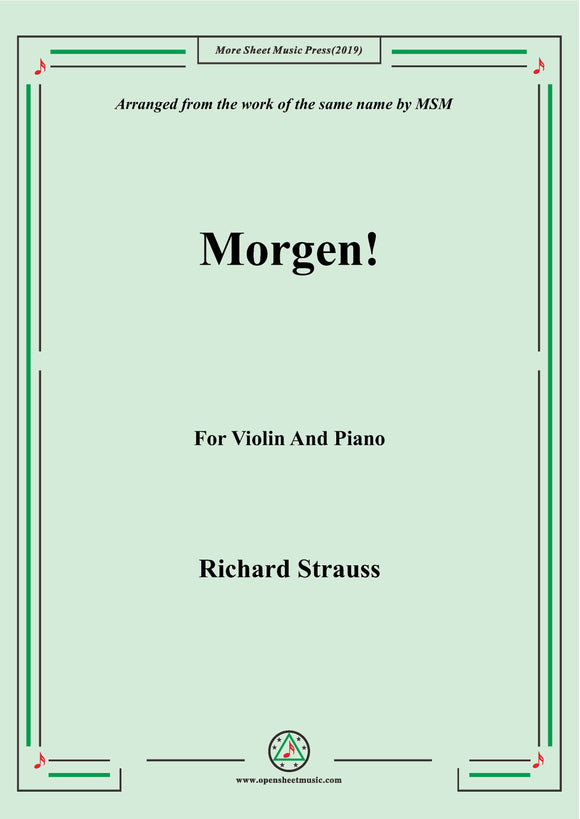 Richard Strauss-Morgen! for Violin and Piano