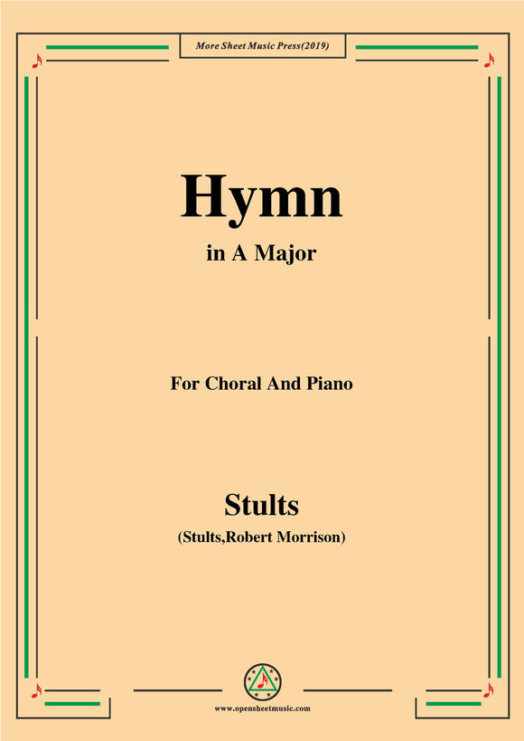Stults-The Story of Christmas,No.10,Hymn,As with Gladness Men of Old,for Choral&Piano