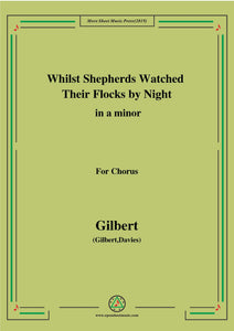 Gilbert-Christmas Carol,Whilst Shepherds Watched Their Flocks by Night,in,for Chorus