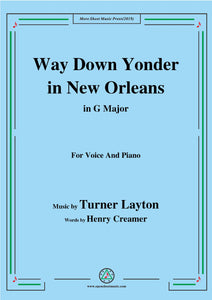 Turner Layton-Way Down Yonder in New Orleans,for Voice&Pno