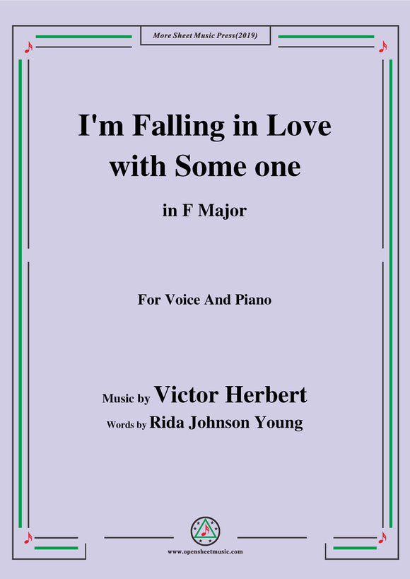 Victor Herbert-I'm Falling in Love with Someone,for Voice&Pno