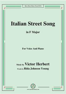 Victor Herbert-Italian Street Song,for Voice and Piano
