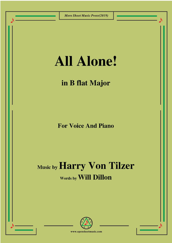 Harry Von Tilzer-All Alone