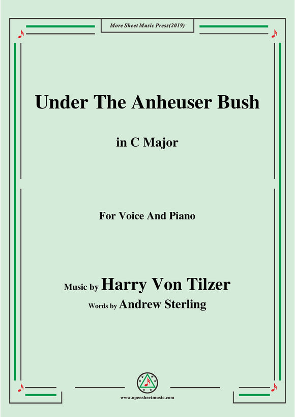 Harry Von Tilzer-Under The Anheuser Bush