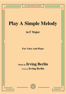 Irving Berlin-Play A Simple Melody