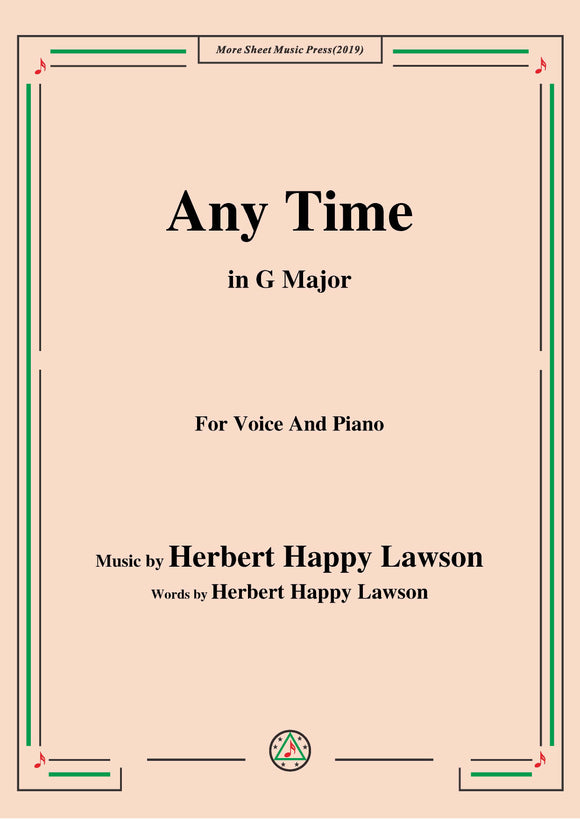 Herbert Happy Lawson-Any Time