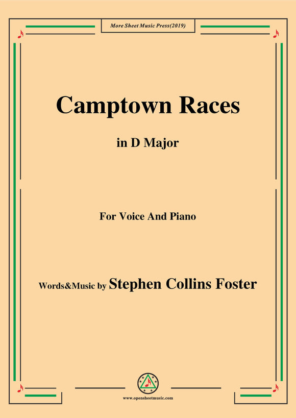 Stephen Collins Foster-Camptown Races