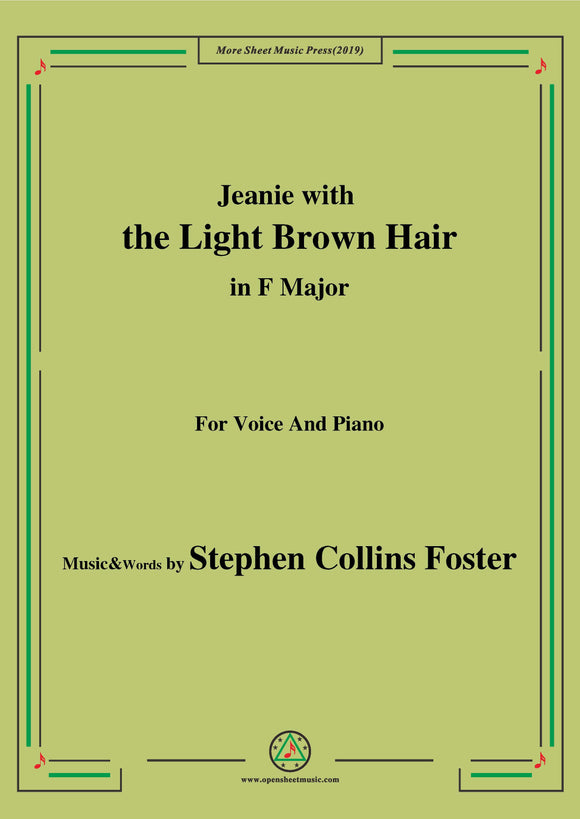 Stephen Collins Foster-Jeanie with the Light Brown Hair