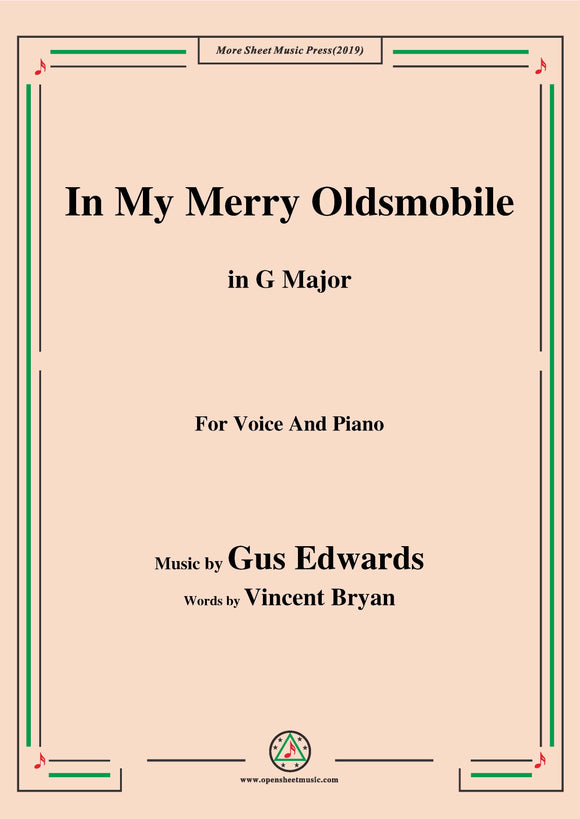 Gus Edwards-In My Merry Oldsmobile