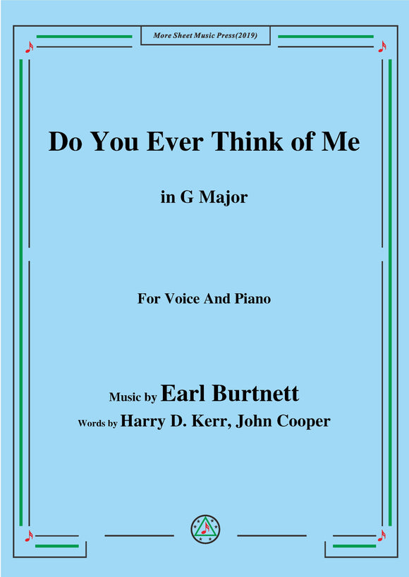 Earl Burtnett-Do You Ever Think of Me
