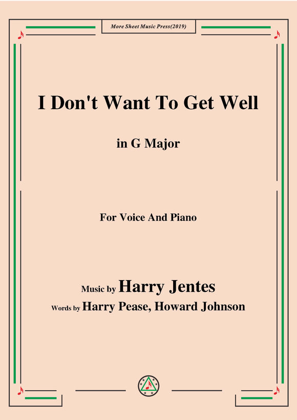 Harry Jentes-I Don't Want To Get Well