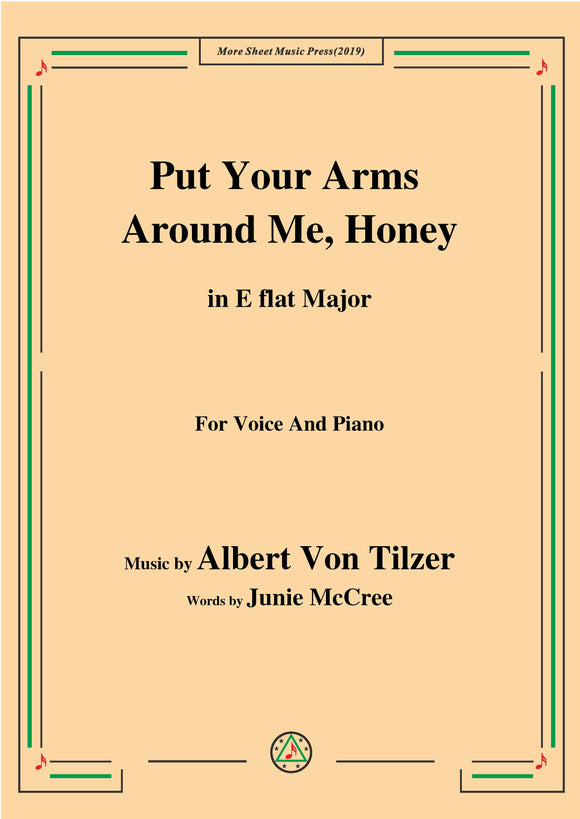 Albert Von Tilzer-Put Your Arms Around Me.Honey