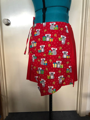 Christmas Koala Wrap Skirt