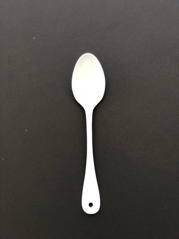Japanese White Enamel Dessert Spoon