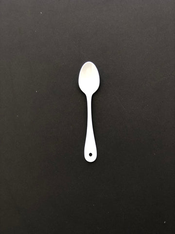 Japanese White Enamel Tea Spoon