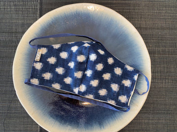 Boro Large Yukinko Light Indigo Cotton Mask