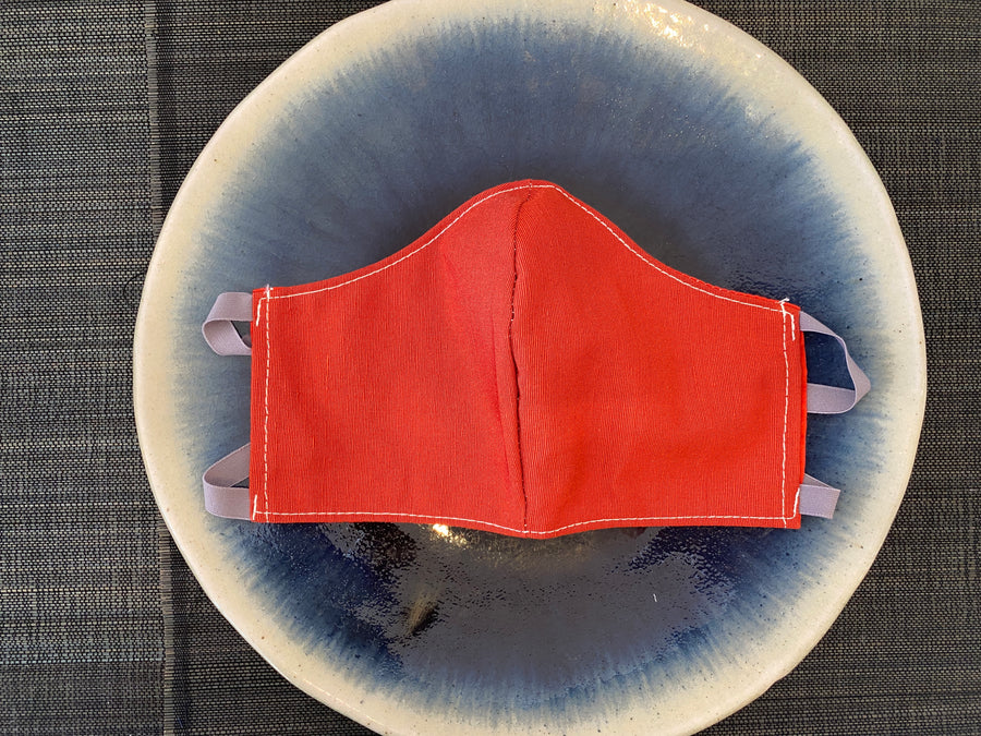 Japanese Vintage Formal Silk Mask (Red)