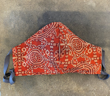 Japanese Vintage Obi Mask (Red x black x white)