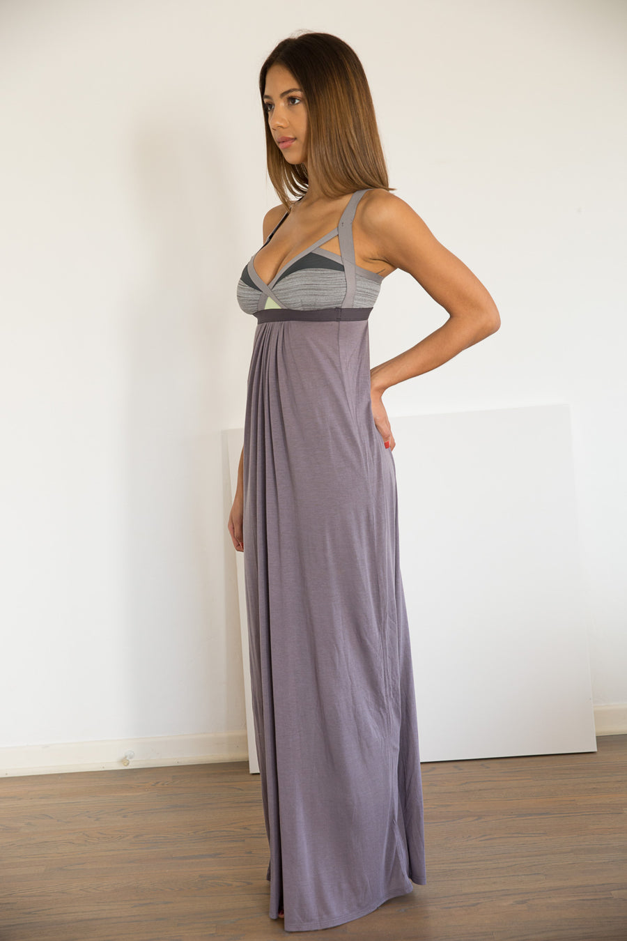 Ippon Maxi Dress +: Grey