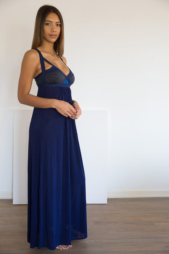 Ippon Maxi Dress +: Navy