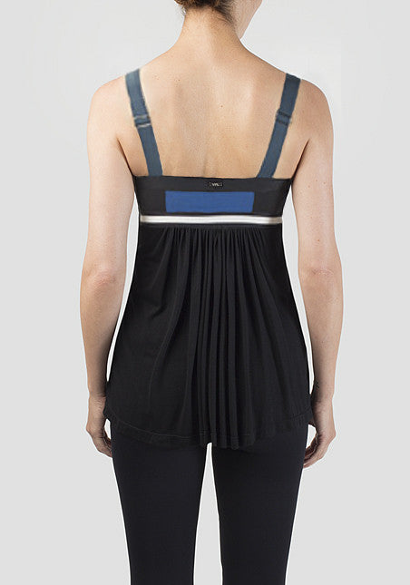 Convexity Breaker Tank: Black with Azure