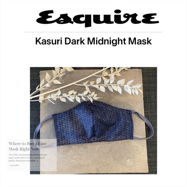 Kasuri Silver Black Mask