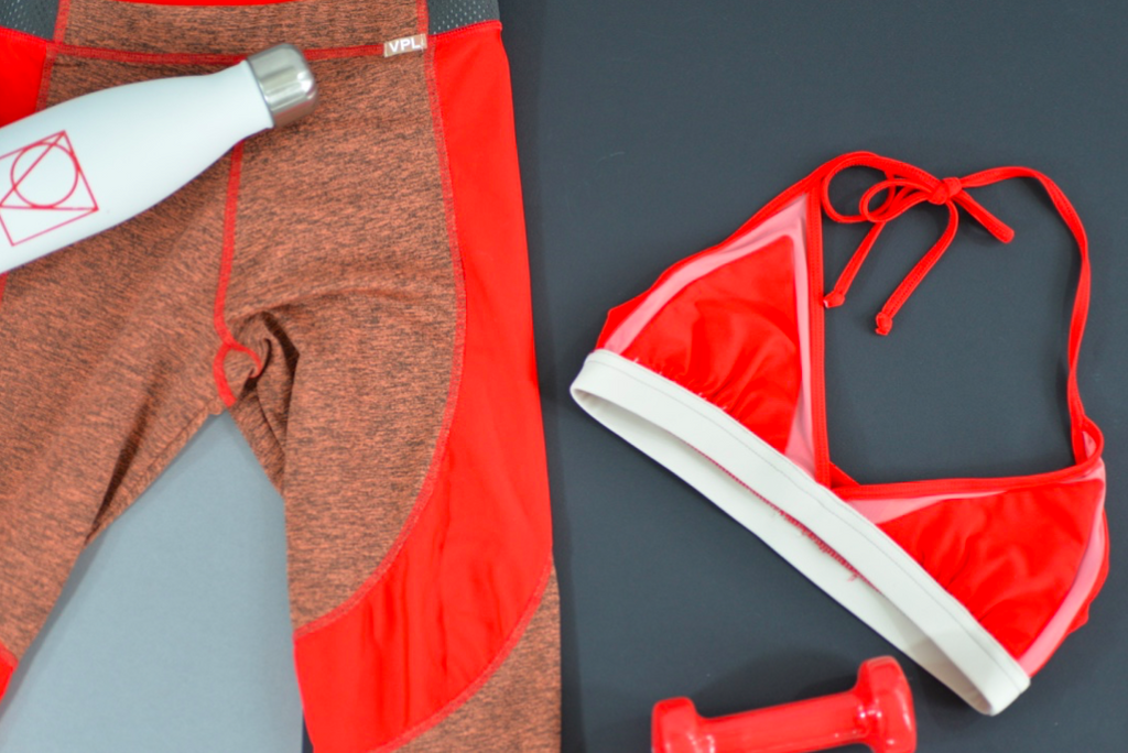 Banded Bra Top : Fiery Red