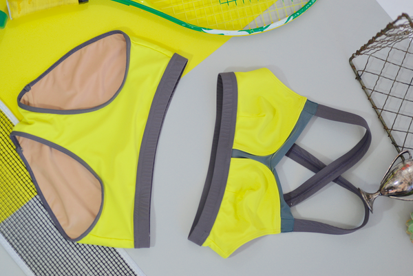 B Bra Swim & Workout Top: Lemon Lime